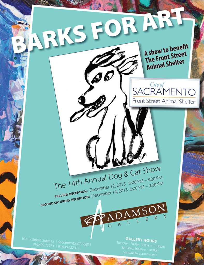 """Barks for Art"" flyer"
