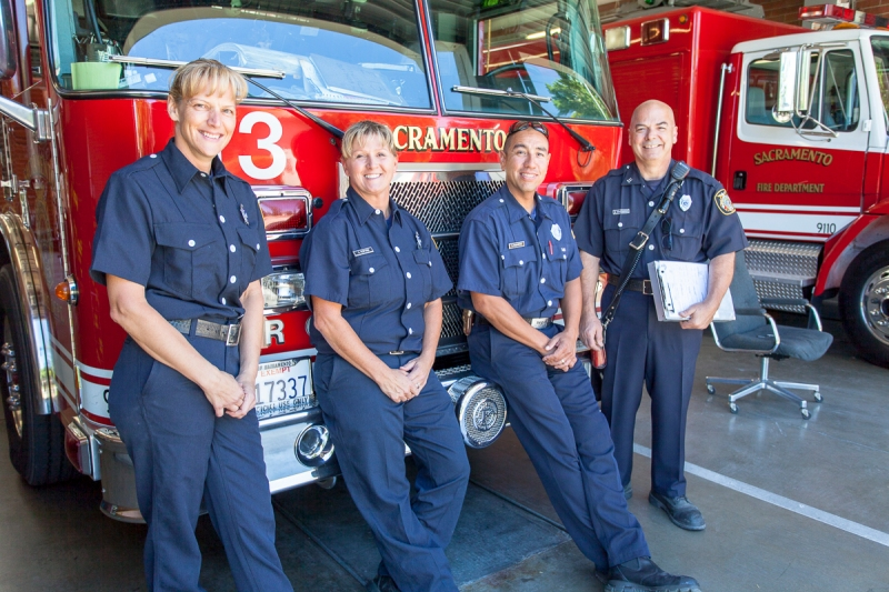 Avid Tedford with other members of Station 13