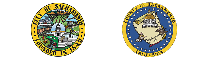 City of Sacramento & County of Sacramento seals