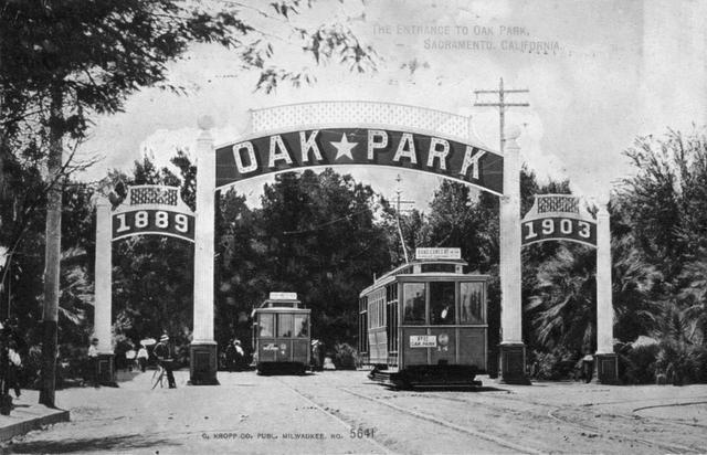 Th original entrance to Oak Park