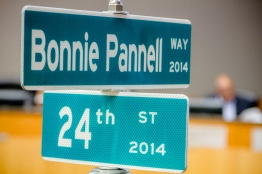 A gift to Councilmember Pannell