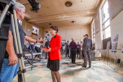 Congresswoman Doris Matsui interview by the media.