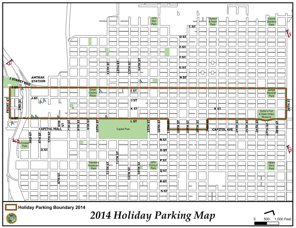 2014 Holiday Parking Map