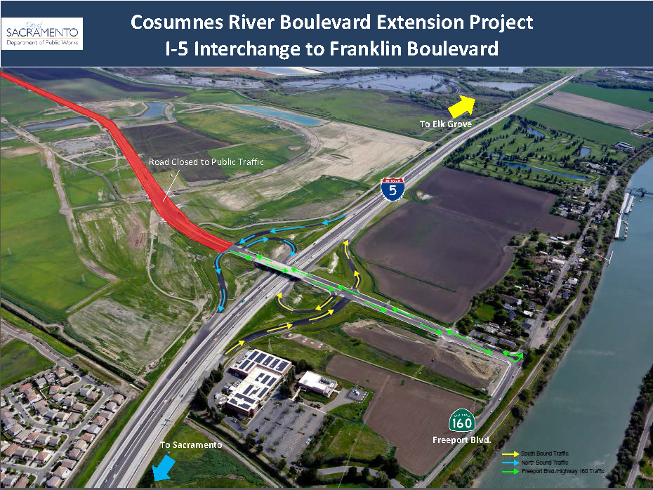 New interchange at I-5 and Cosumnes River Blvd. in south Sacramento ...