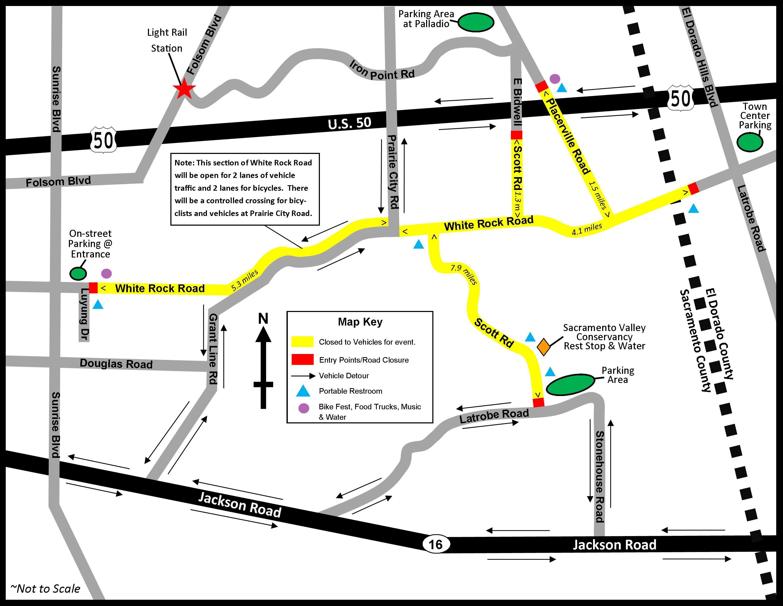 The Great Scott Road Bike Walk Event City Express - Us 50 closure map