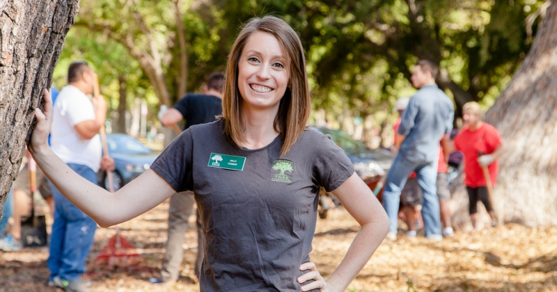 """""""Trees make Sacramento the wonderful city that it is,"""" said Kelly Conroy Program Manager with the Sacramento Tree Foundation. """"A nice thick layer of mulch around the base of your tree can save as much as 20-40% of water, and provide trees adequate amounts of nutrients that it needs to survive."""""""