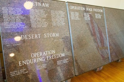 Sacramento Memorial Auditorium enter names of fallen soldiers
