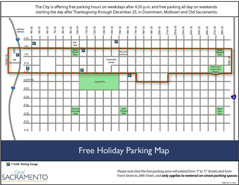 Free Holiday Parking Map