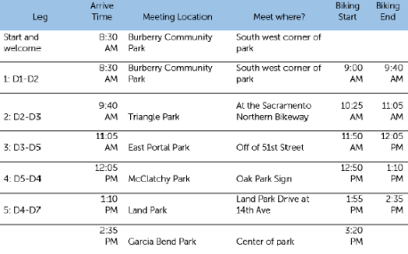 Tour de City Hall Schedule