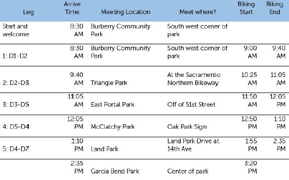 Tour de City Hall Schedule