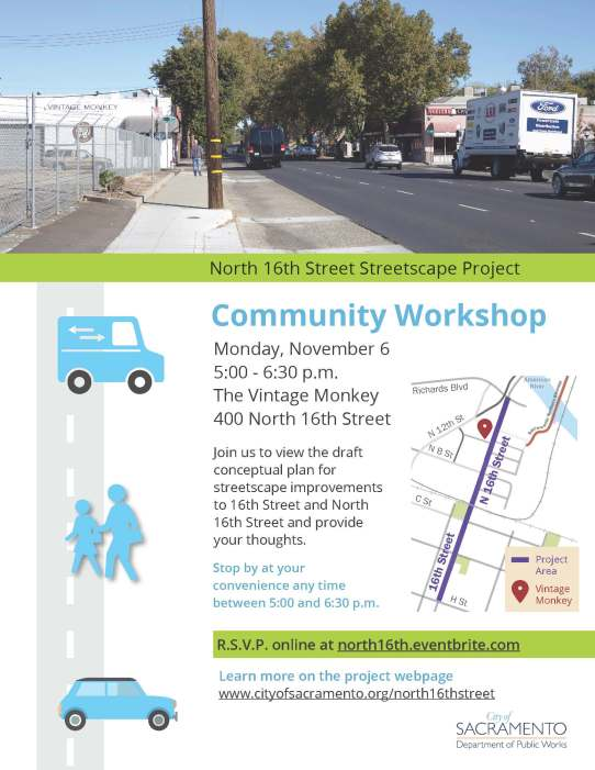 North 16th Community Workshop Flyer