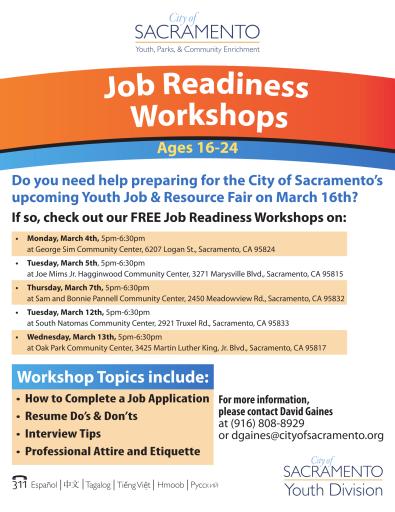 2019 Job Readiness Workshop Flyer (Job Fair)