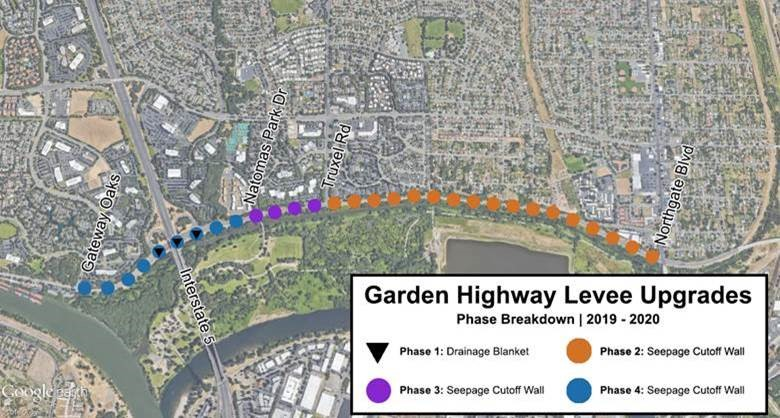 Sections of Garden Highway will be closed to all traffic beginning